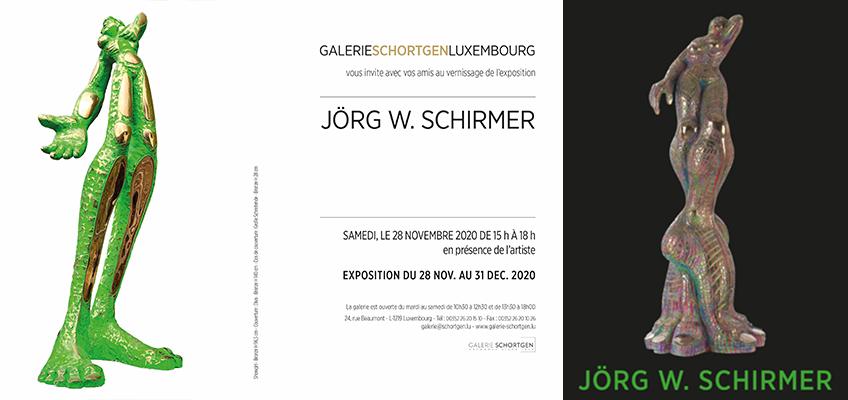 Einladungskarte der Galerie Schortgen in Luxembourg