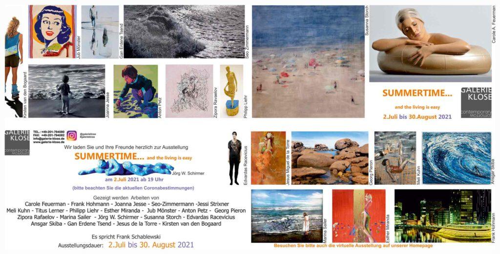 Einladungskarte Galerie Klose