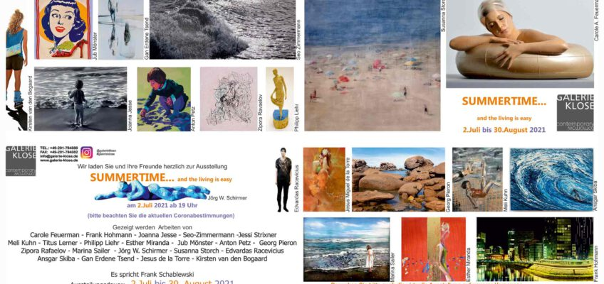 Gruppenausstellung SUMMERTIME… and the living is easy, Galerie Klose, Essen